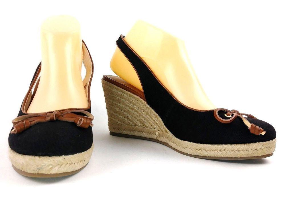 ed972d31601 Bass Womens Kim Espadrille Wedge Sandals Size 9.5 Black Platform ...