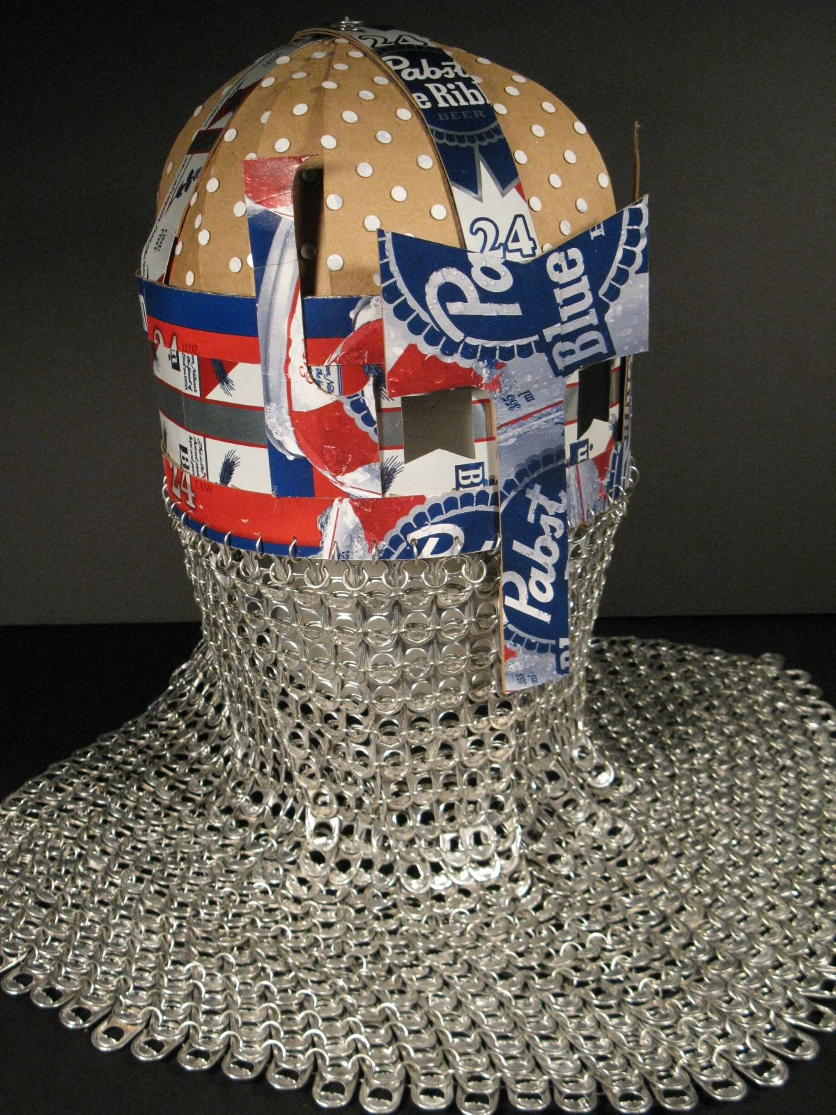 Midevil Helmet Pabst blue ribbon, Blue ribbon, Blue