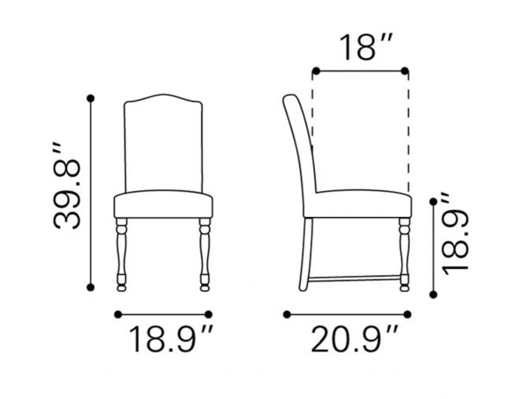 Dining Table Chair Dimensions Images 9 Pinterest  Chairs