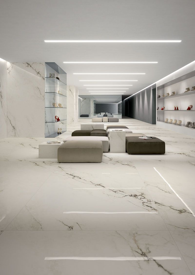 Imperial White Maximum Bright And Honed Marmi Maximum 6 Mm Thickness Available In Differente Sizes 30 White Tile Floor Chic Living Room Design Floor Design