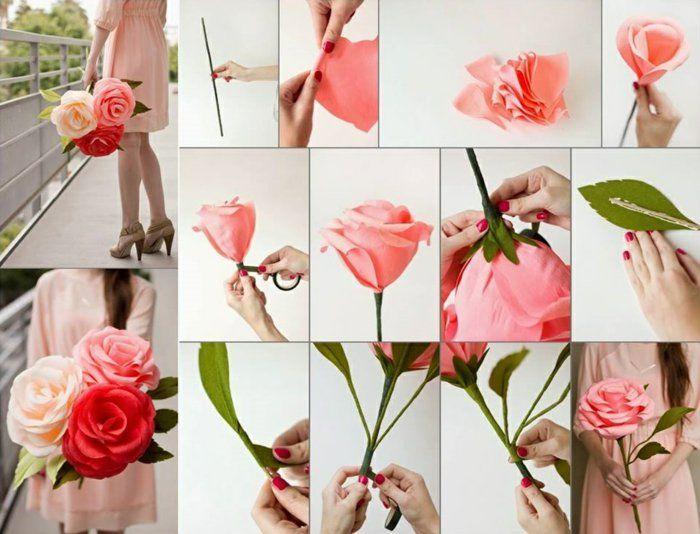comment créer une fleur en papier crépon | craft