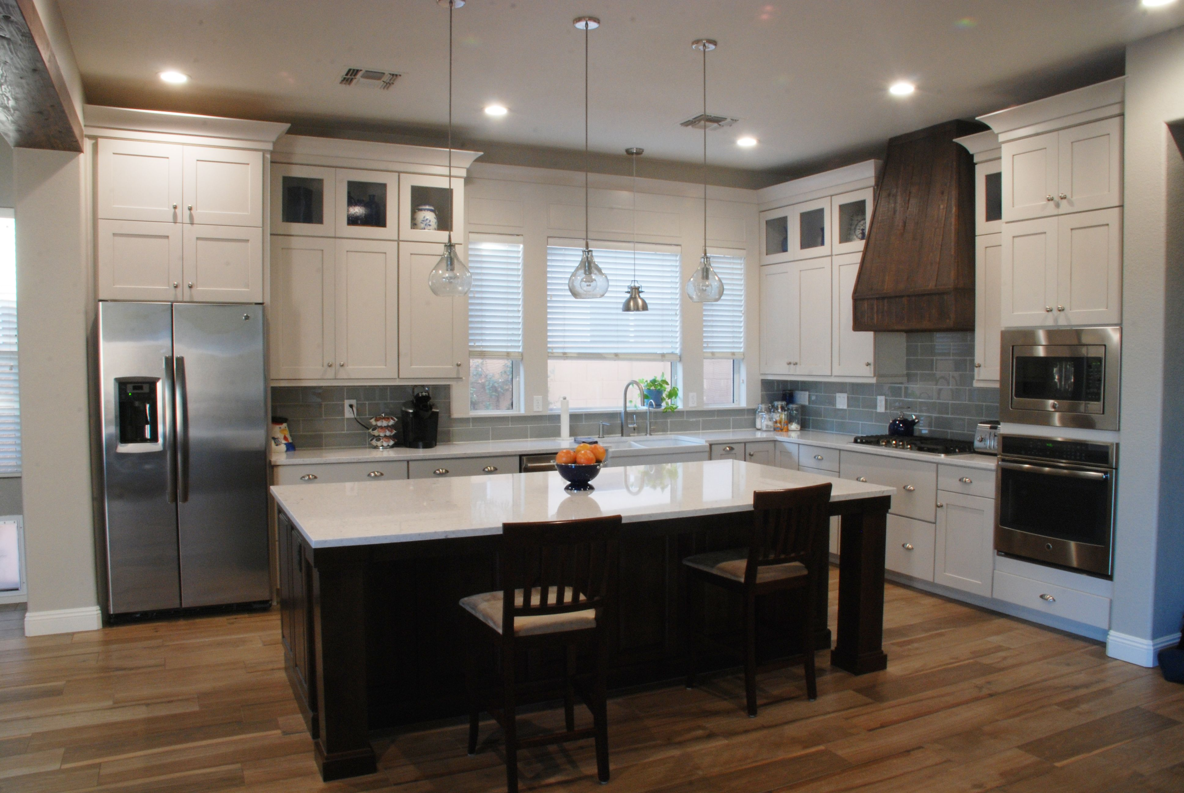 Overall Kitchen View Schrock Cabinets Elston Door On Perimeter In Dover With Graystone Used Kitchen Cabinets New Kitchen Inspiration Kitchen Cabinets Models