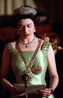 theimperialcourt: Queen Elizabeth II during a...