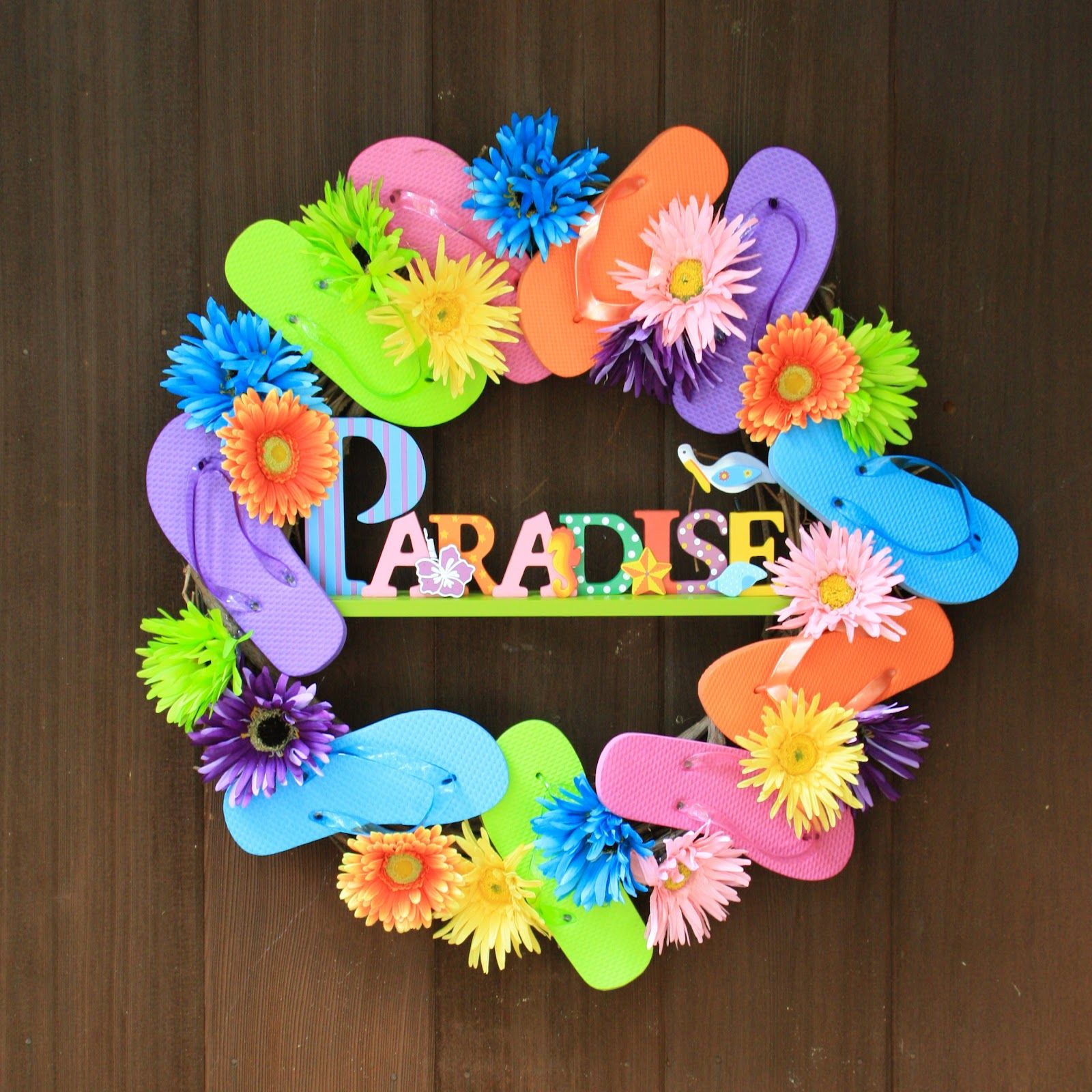 62b5e44c6ada7 how to make a flip flop wreath - Google Search