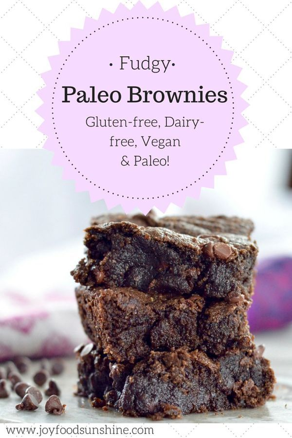 Gooey Fudgy Paleo Brownies Recipe! Ready in 20 minutes these are the best brownies ever. Plus, they're healthy! Gluten-free, dairy-free, vegan, AND paleo!