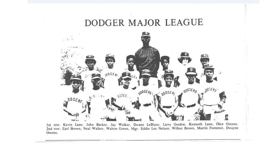 Dodgers Major League Little League Milton Ymca R I P Dwayne L Owens And Larry Gordon Larry Little League Jay Walker