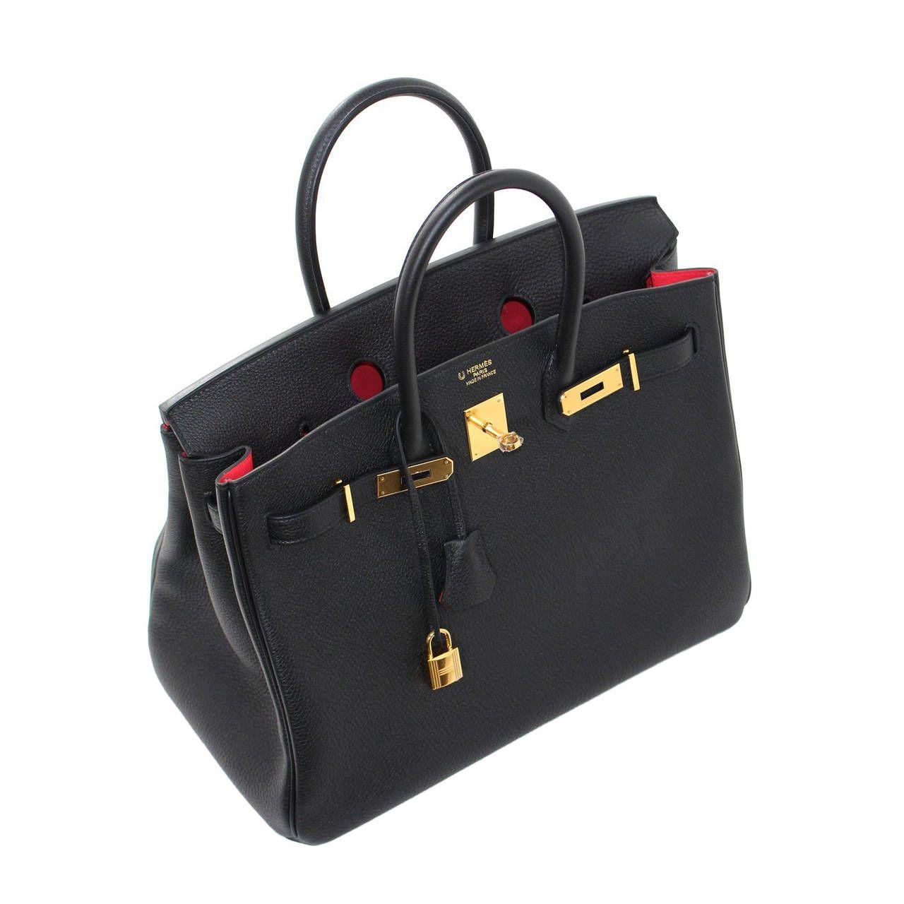 09915fd511cb Hermès Horseshoe Birkin Bag in Black Togo with Rose Jaipur