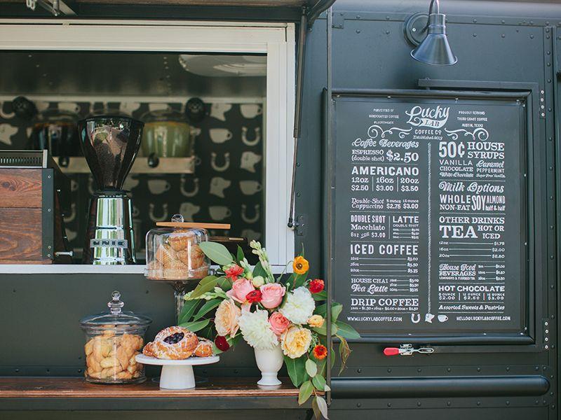 Coffee truck menu board mobile coffee shop food truck