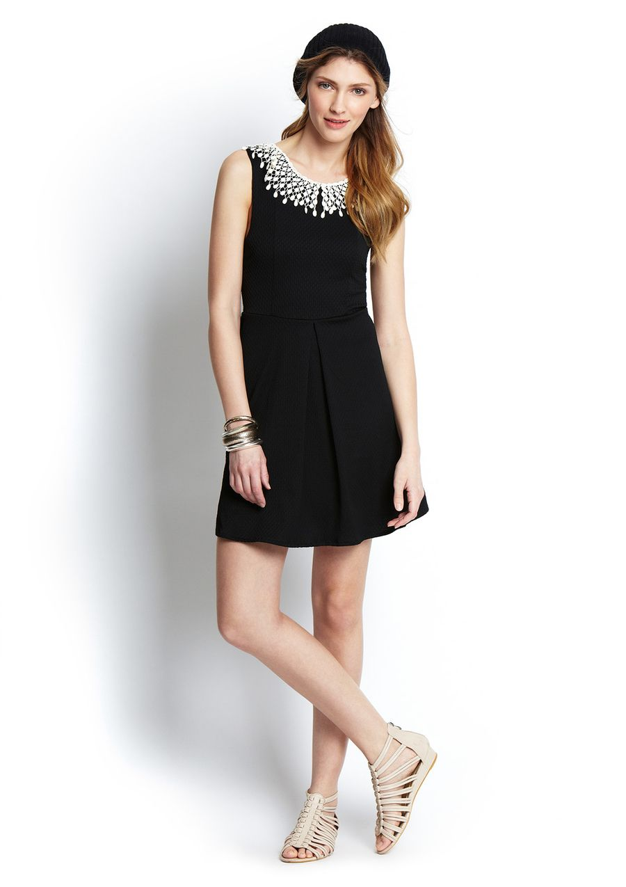Ideeli Free People Sleeveless Waffle Knit Dress With Collar Knit Dress Collar Dress Dresses [ 1275 x 900 Pixel ]
