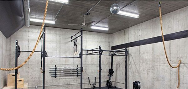 Dark garage gym? brighten it up with new lighting gym ideas