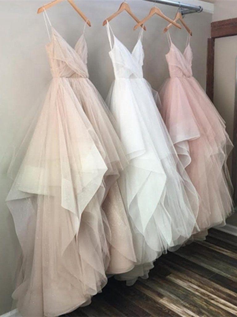 Champagne prom dress white prom dress pink prom dress champagne