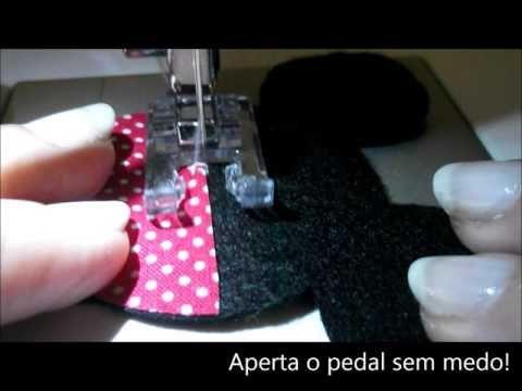 Aplique da Minnie com ponto caseado e pontilhado! - YouTube