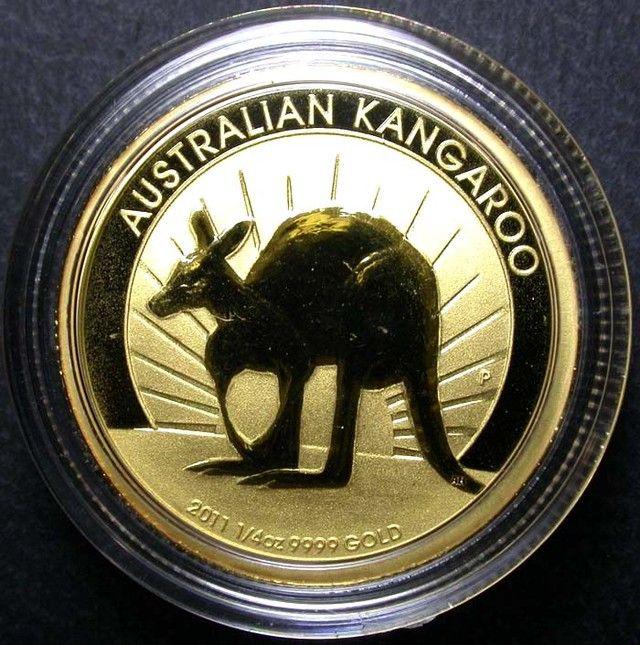 2011 Kangaroo 1 4 Ounce Gold Coin Bu Coins Pinterest
