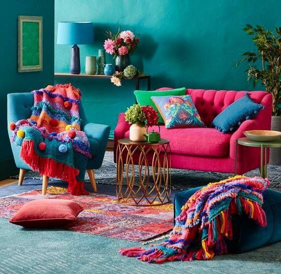 Love the vibrant colors #cozyliving