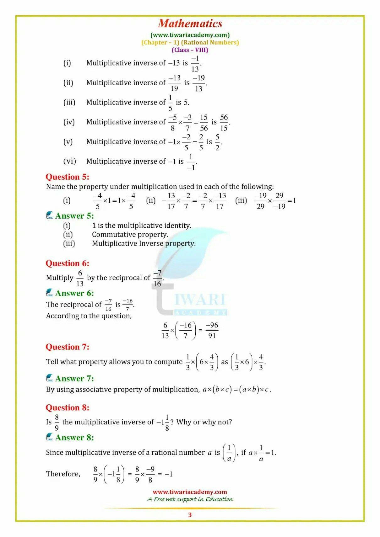 Pin By Vibha Gupta On Kanu Maths Solutions Math Class 8 [ 1712 x 1210 Pixel ]