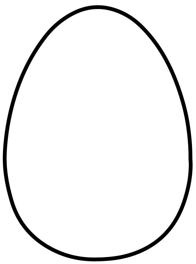 free easter egg template