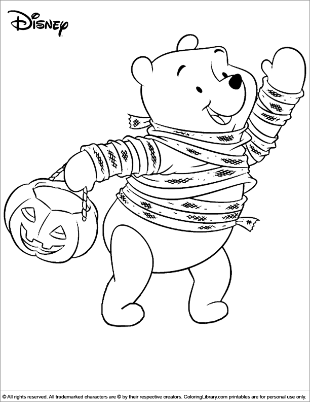 Winnie the Pooh Halloween costume coloring | Coloring pages | Pinterest