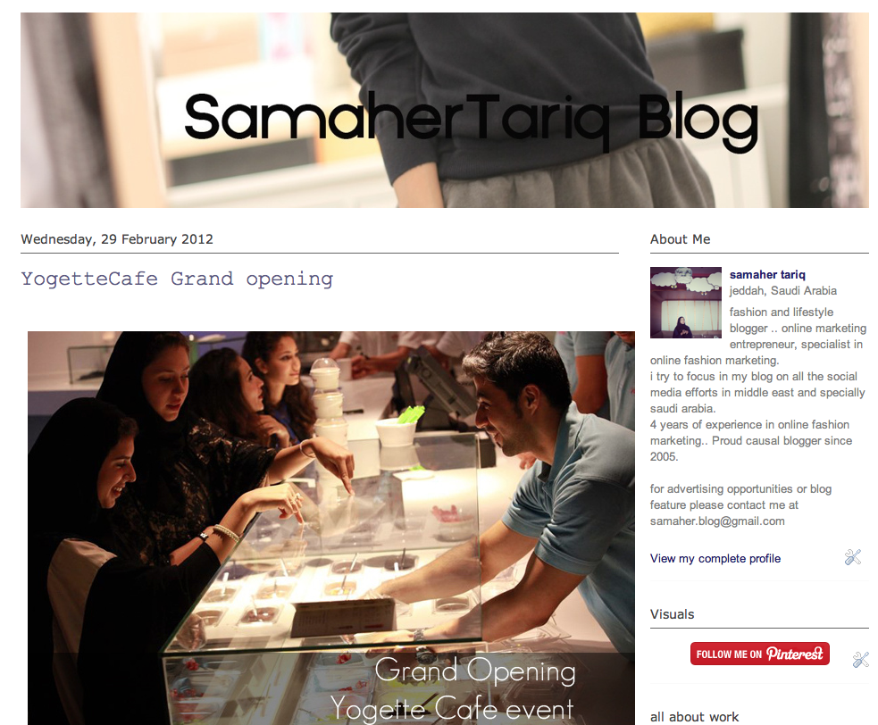 samaher's blog posts about yogette grand and soft opening also their bubble tea
