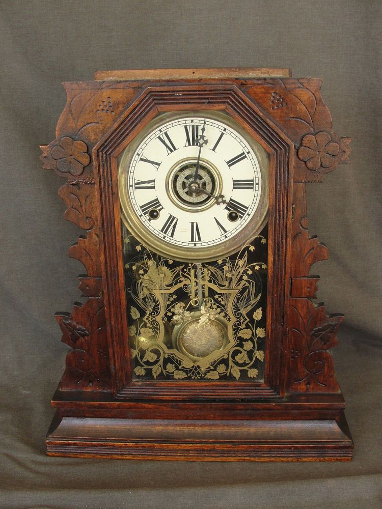 gilbert kitchen clock narrow cabinet for antique gingerbread mantle items