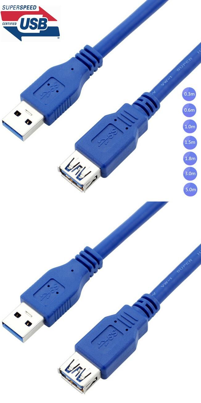 USB 3.0 A Male AM to USB 3.0 A Female AF USB3.0 Extension Cable 0.3m ...