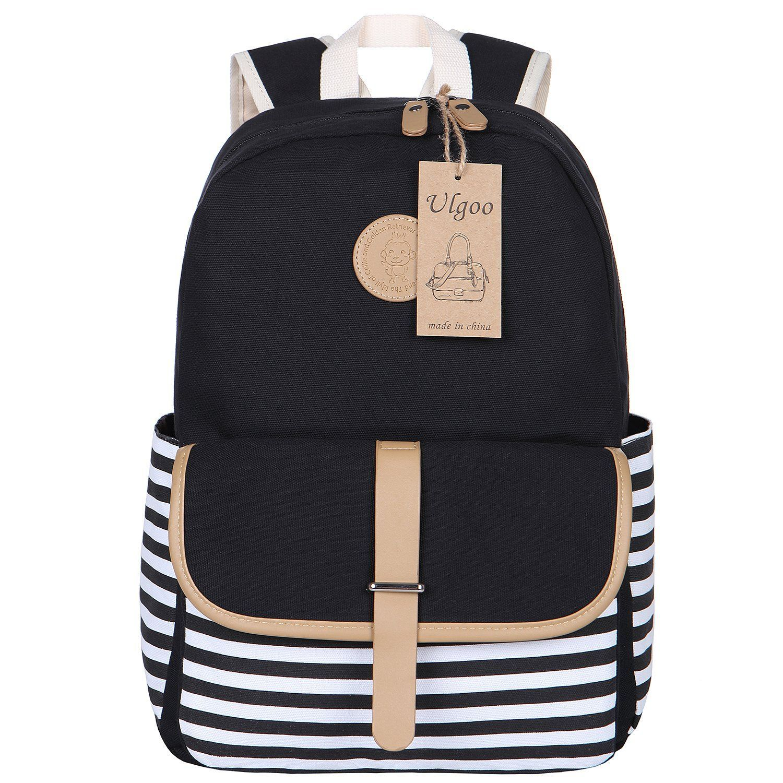 6e2d43a92da0 Ulgoo School Backpacks Travel Canvas Backpacks for Girls School Bookbags  for Teen  TravelingBackpackStyle