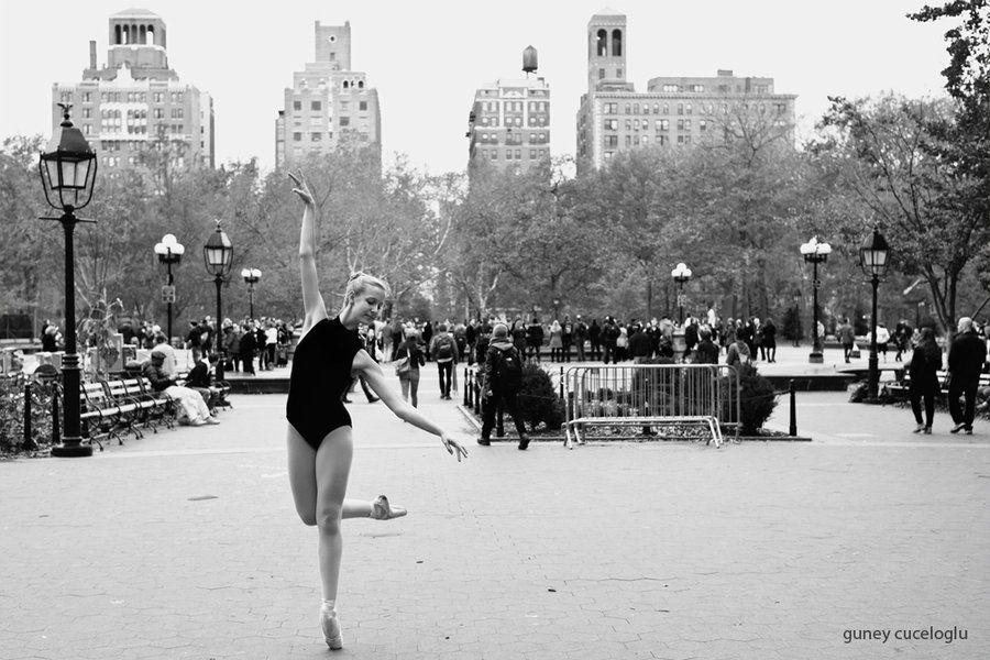 ballerina in washington square park, nyc by gunthegun on DeviantArt
