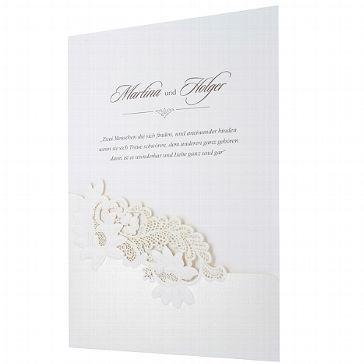 """Einladungskarte """"Emma"""" - Vintage zu Ihrer Hochzeit - weddix"""