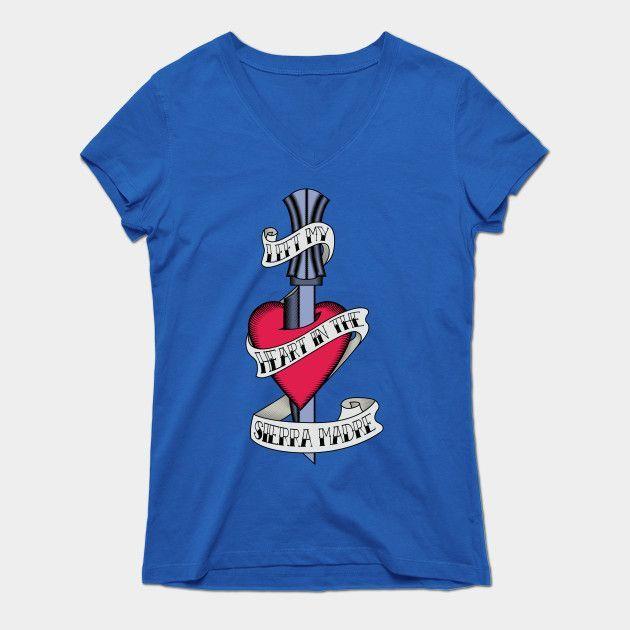 Left My Heart In The Sierra Madre Womens V-Neck T-Shirt