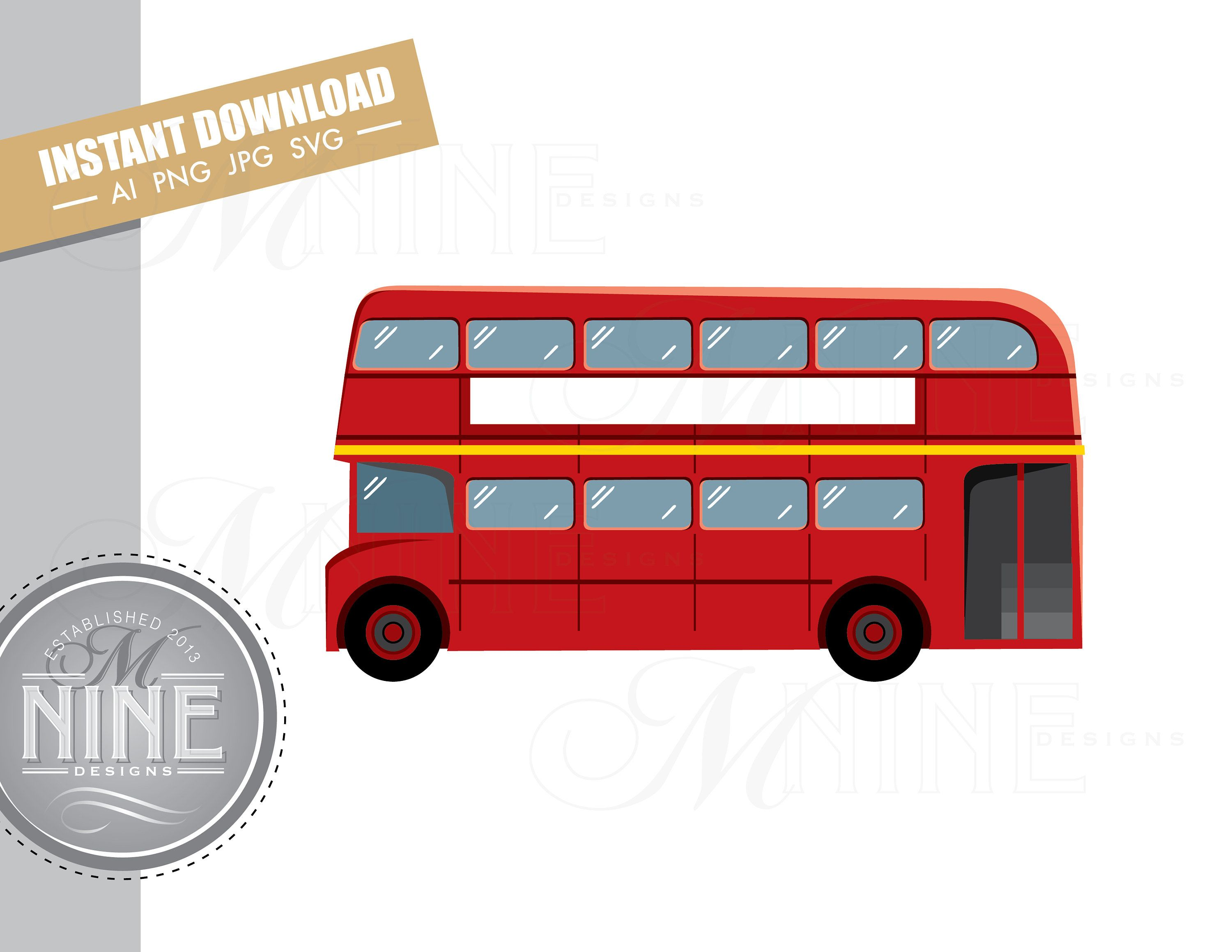 London Bus Clip Art Downloads Vector Double Decker Bus Ai Png