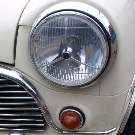 "Austin Mini Xenon Upgrade 7/"" Domed Halogen Conversion Headlight Kit"