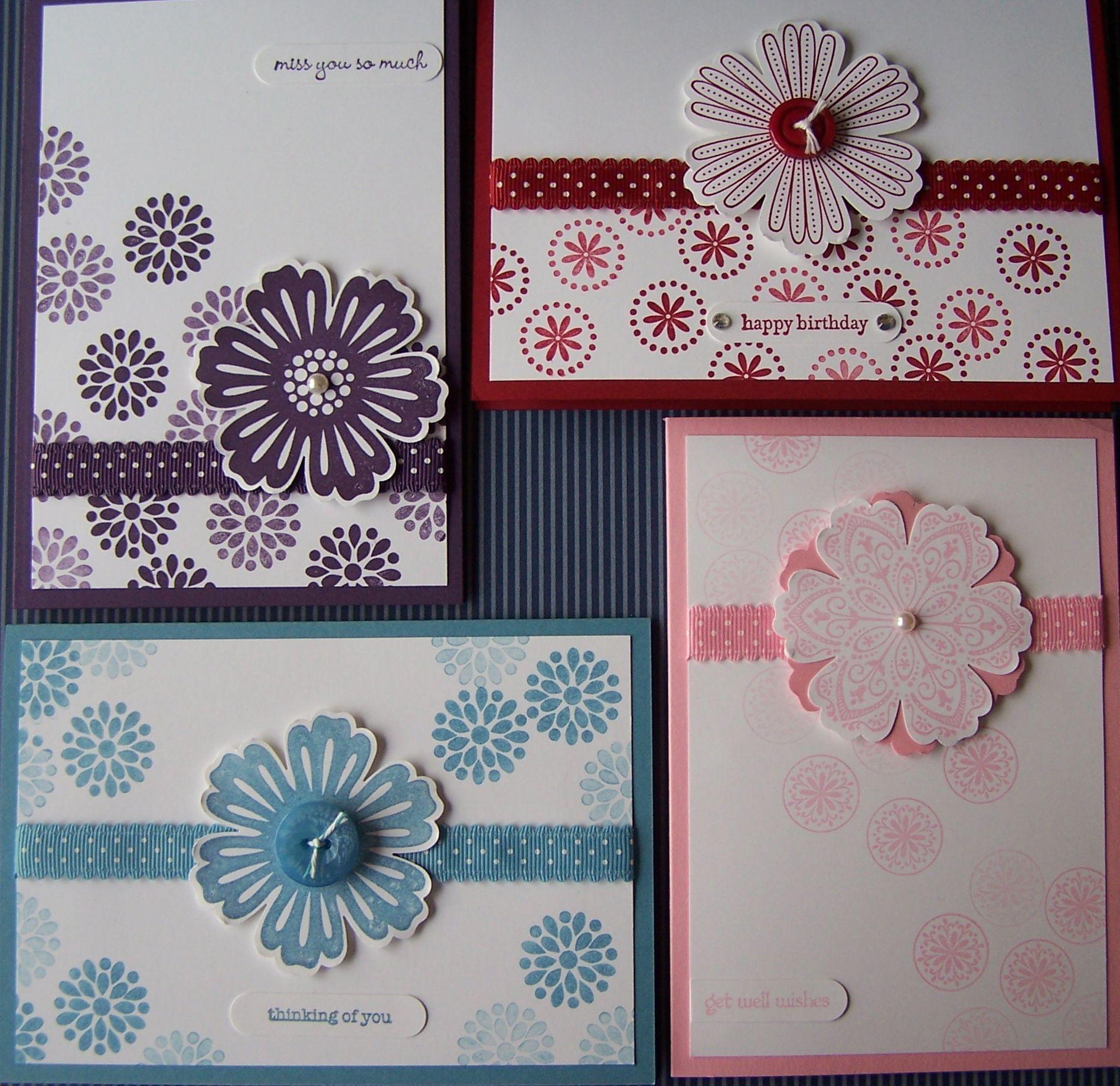 Mixed bunch class dot dot stamping designs card ideas
