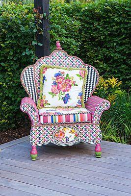 Garden chair element