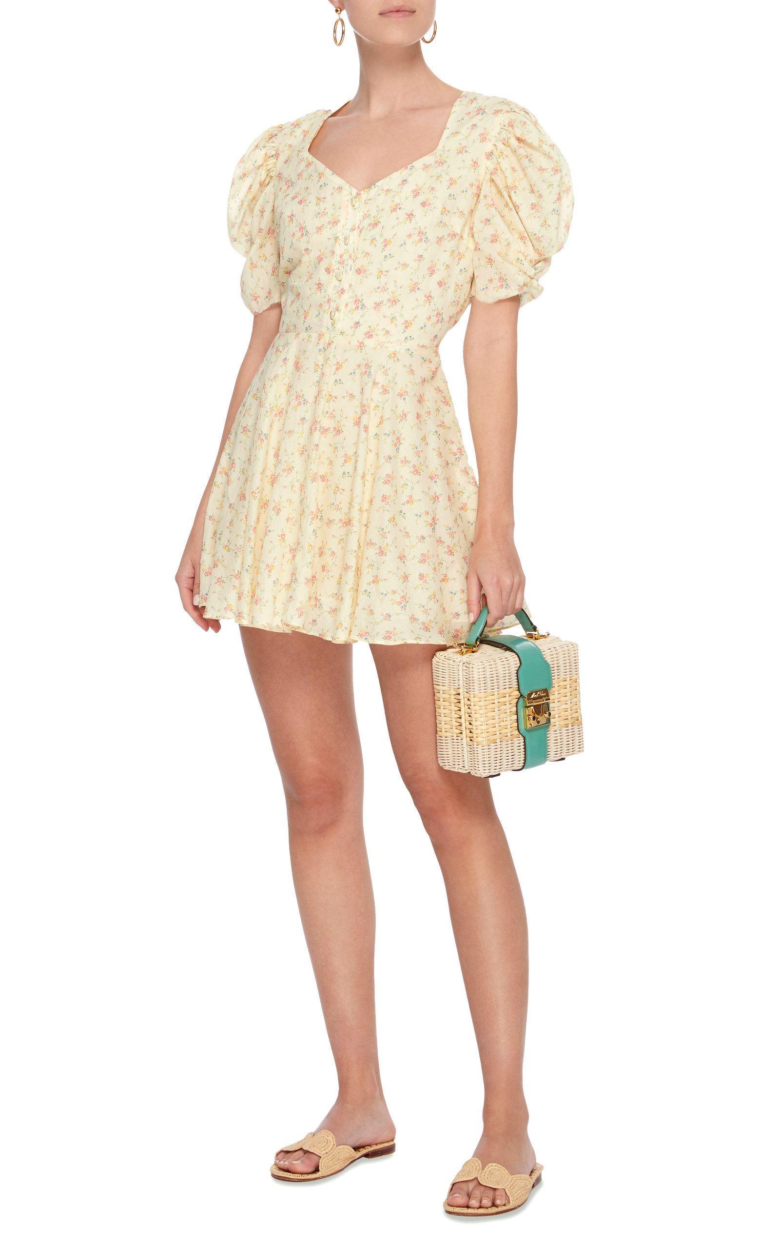 63589aaa0285 Cora Floral-Print Cotton Mini Dress | outfits f/w '17 | Dresses ...