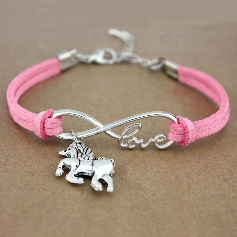 bracelet argent cheval fille
