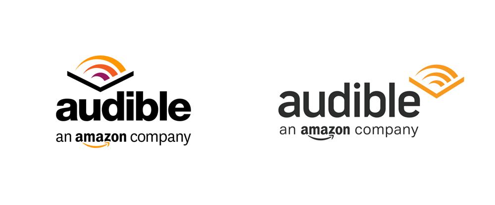 Brand New New Logo For Audible Done In House Logos Audible Books Logo Design