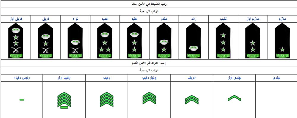 رتب الضباط في السعودية بالصور Chart Bar Chart
