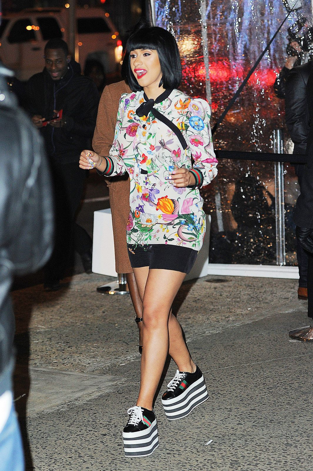 Get The Look Cardi B's New York City Gucci Floral Snake