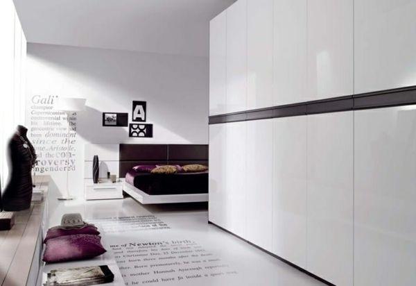 L\'armoire dressing dans la chambre à coucher moderne | Grande ...