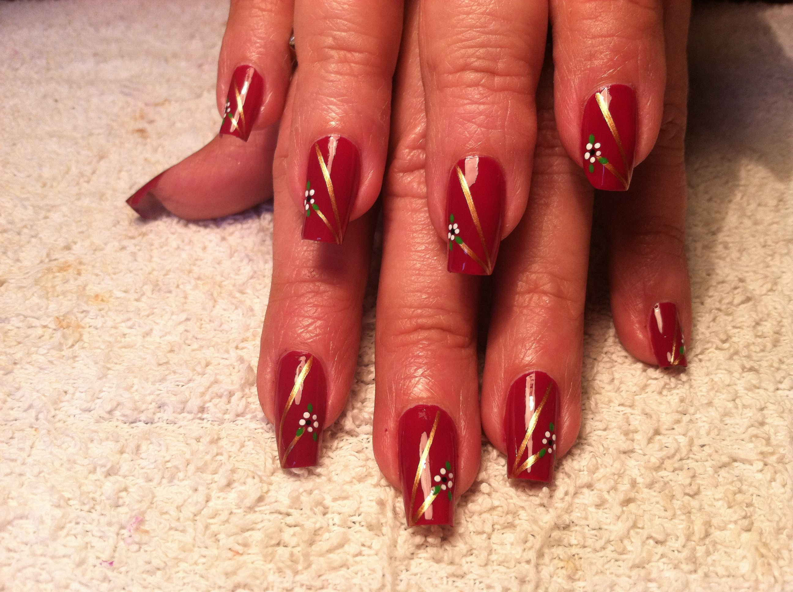 Freehand nail art by penny brown miss susan a nail art by