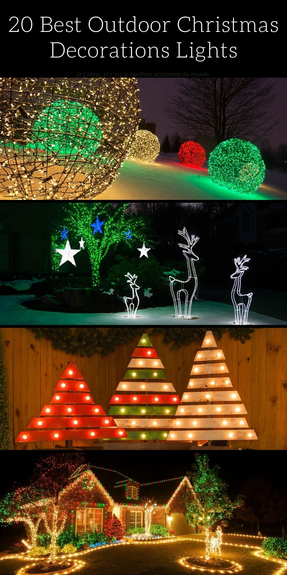 20 Best Outdoor Christmas Decorations Lights Id Lights Outdoor Christmas Decorations Lights Decorating With Christmas Lights Outdoor Christmas Decorations