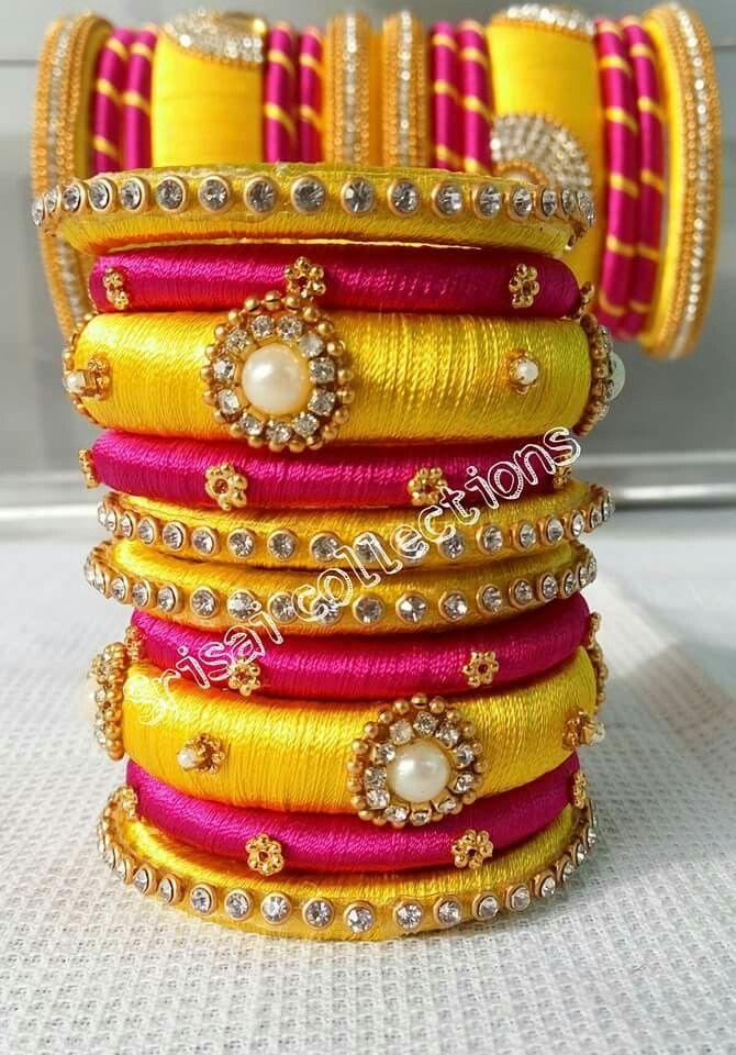 b2fe1ef2d Silk Thread Bangles, Thread Jewellery, Beaded Necklace Patterns, Beaded  Jewelry, Silk Art