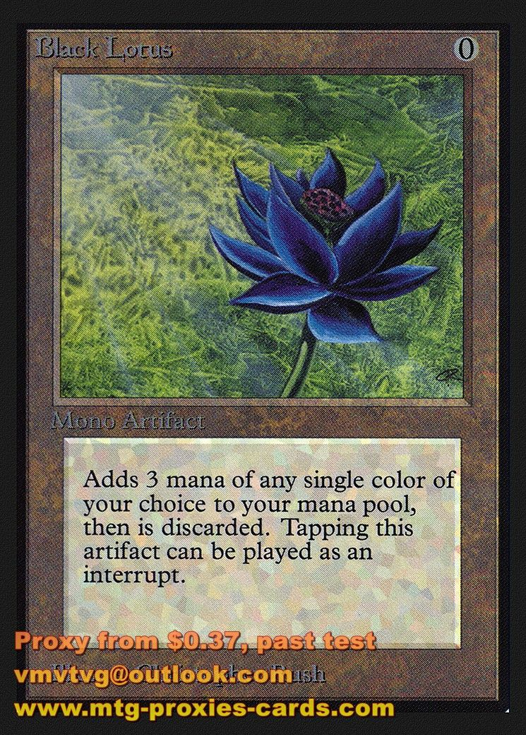 Black Lotusxlhq Ced Collectors Edition Magic The Gathering Proxy