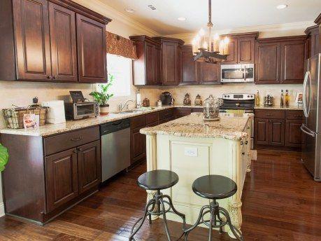 Nice Photos+of+mismatched+cabinets   Dark Cabinets, Lots Of Counter Space,