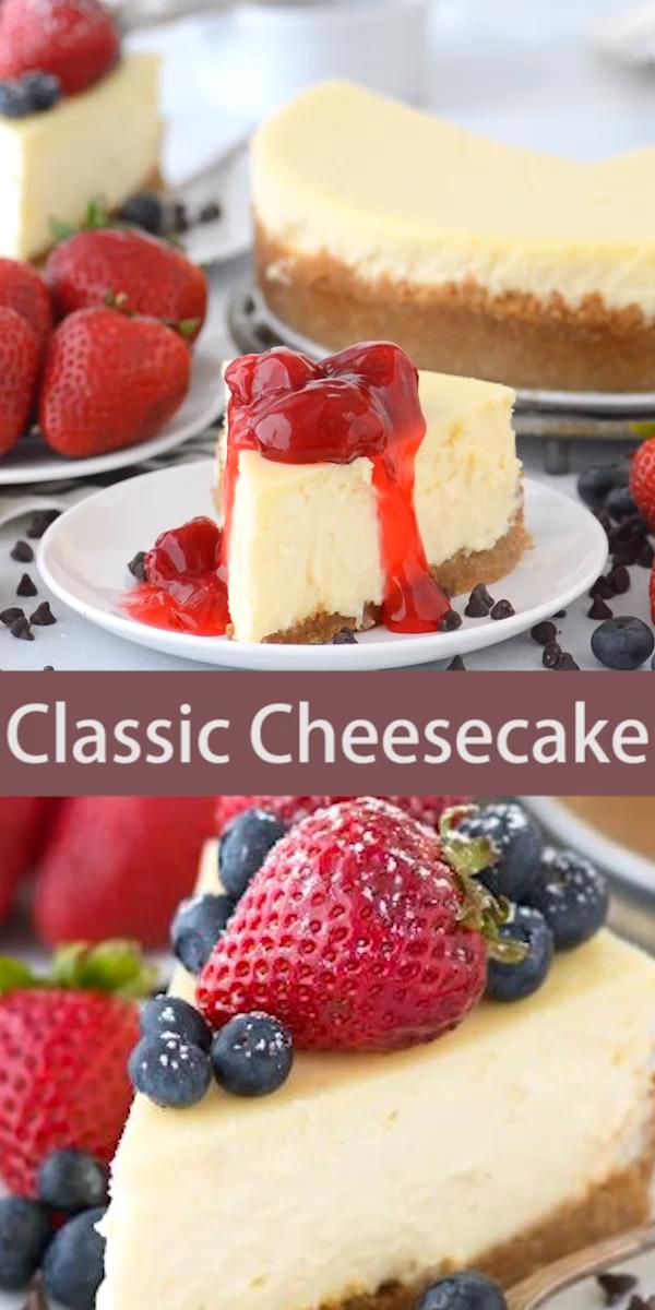 Classic Plain Cheesecake #cheesecake