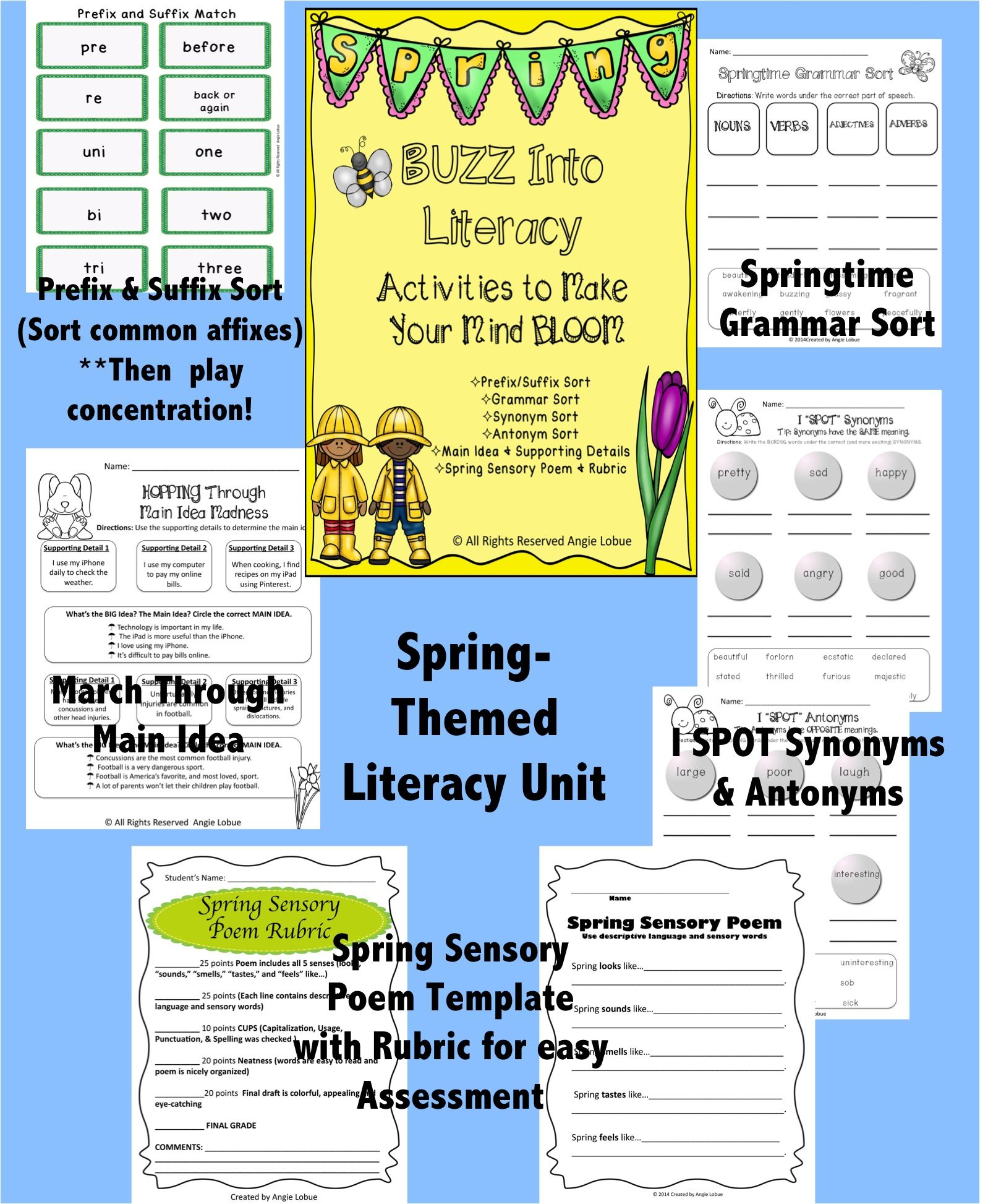 Spring Themed Reading Skills Practice Reading