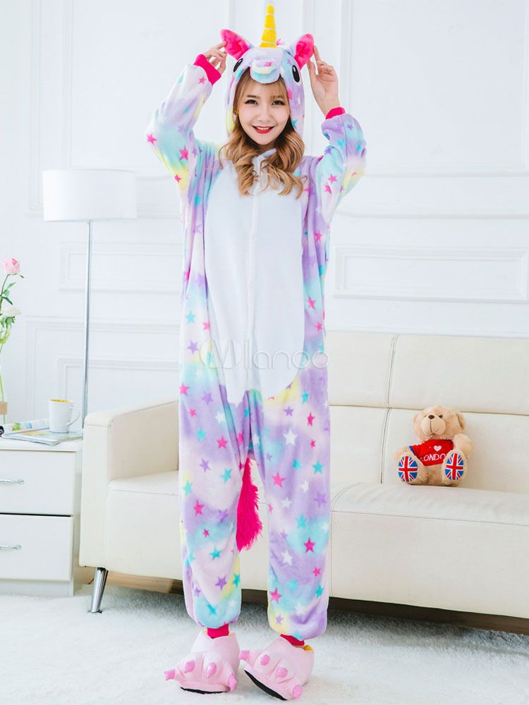 Hallween XMAS Cosplay Outfits Rainbow Unicorn Pajamas Tenma Jumpsuits Sleepwear