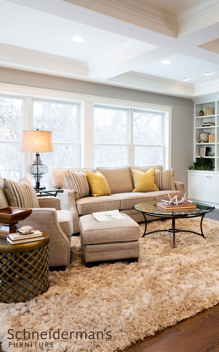 Neutral furniture makes a perfect canvas for