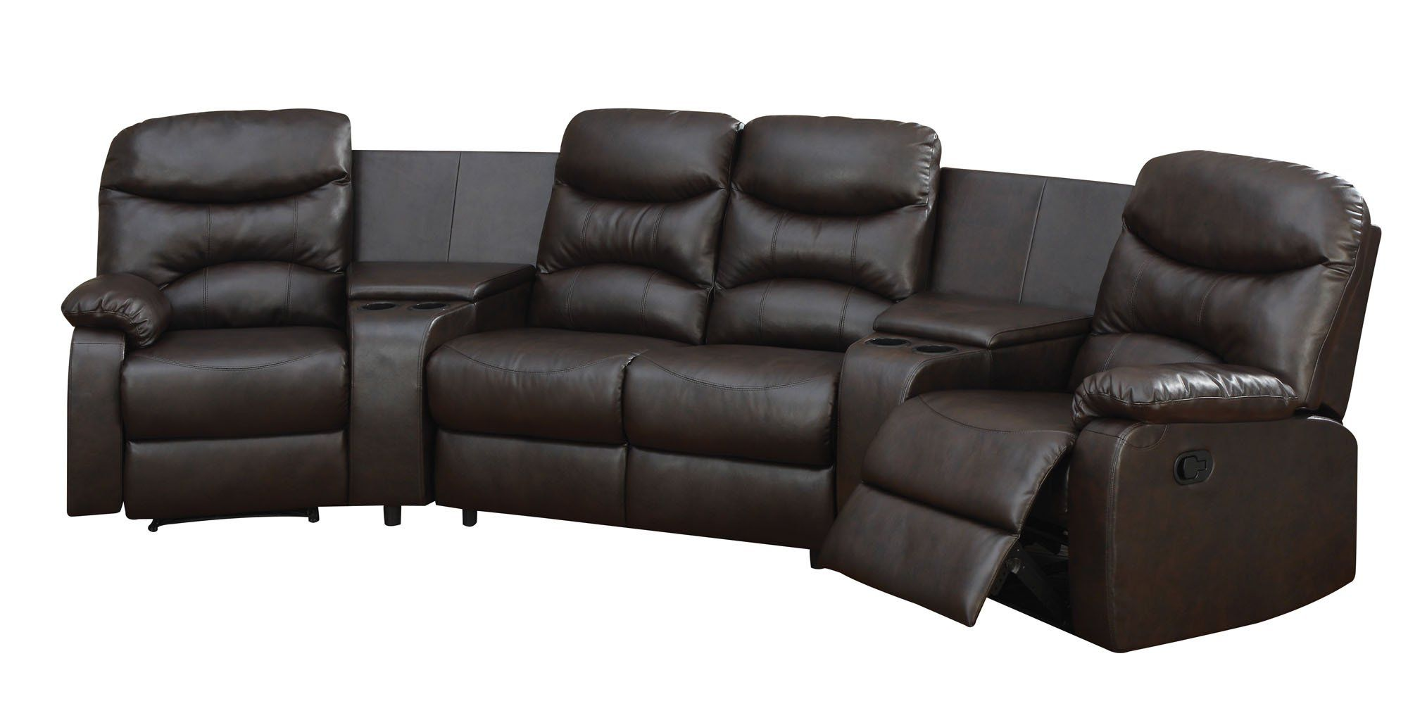 home theater leather sofa small storage sectional acme 50110 spokane bonded furniture