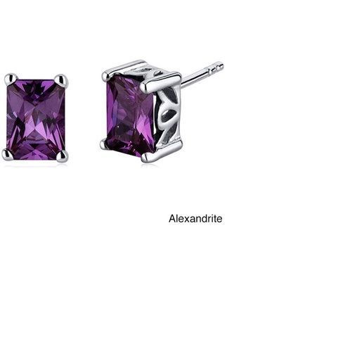 in lab earrings big alexandrite deal shop stud created sterling on silver