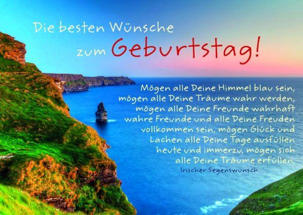Schone Worte Zum Geburtstag E Card Mit Meerlandschaft Happy